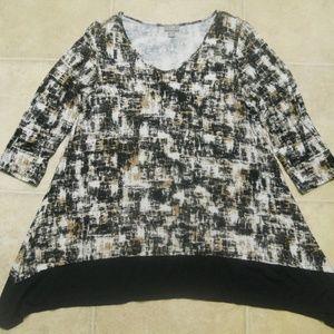 J. Jill Wearever Collection Tunic Top Sz S V-Neck